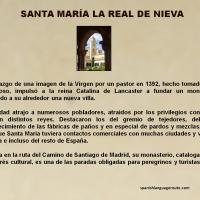 Historia de Santa María La Real de La Nieva